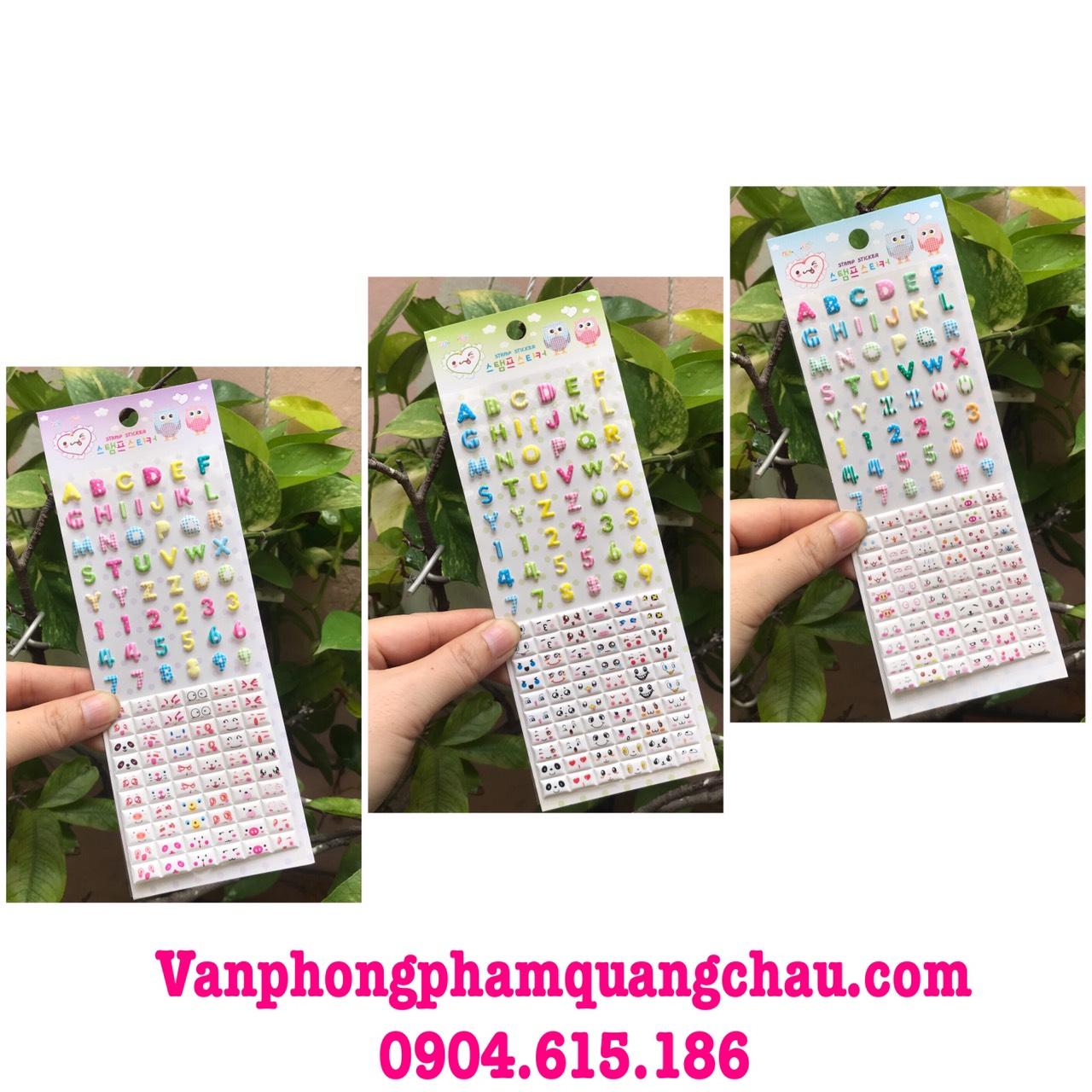 Sticker cảm xúc chữ và số (01 tấm/01 mẫu)_S171