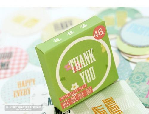 Sticker Thank You hộp xanh_S136