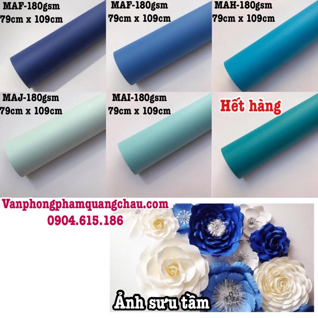 Giấy mỹ thuật tông màu xanh dương (định lượng: 165gsm-180gsm) - Set 06 tờ_CBG03