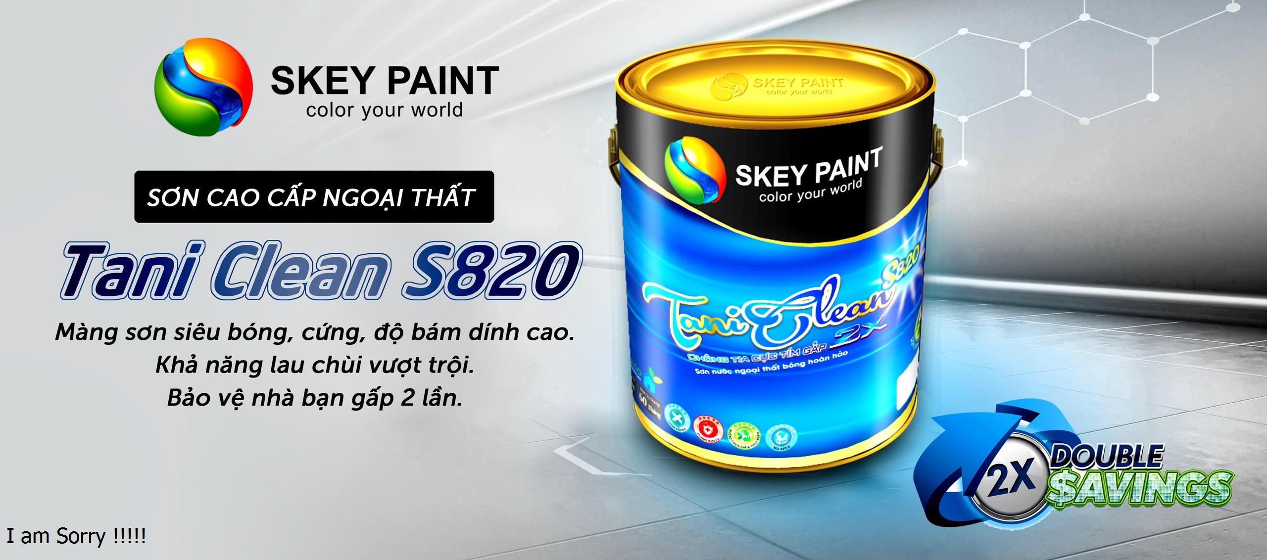 SƠN CAO CẤP NGOẠI THẤT TANI CLEAN S820