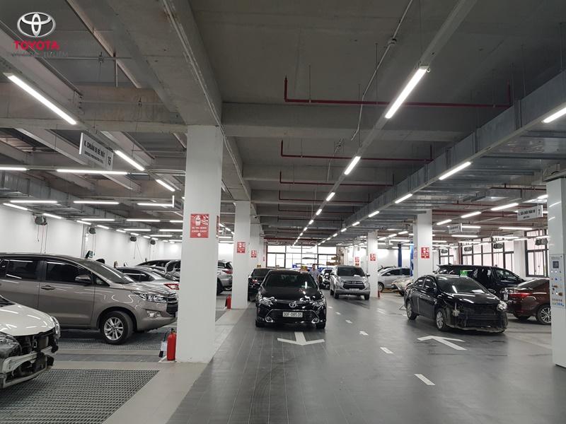 Xưởng dịch vụ của đại lý Toyota Thái Hòa Từ Liêm