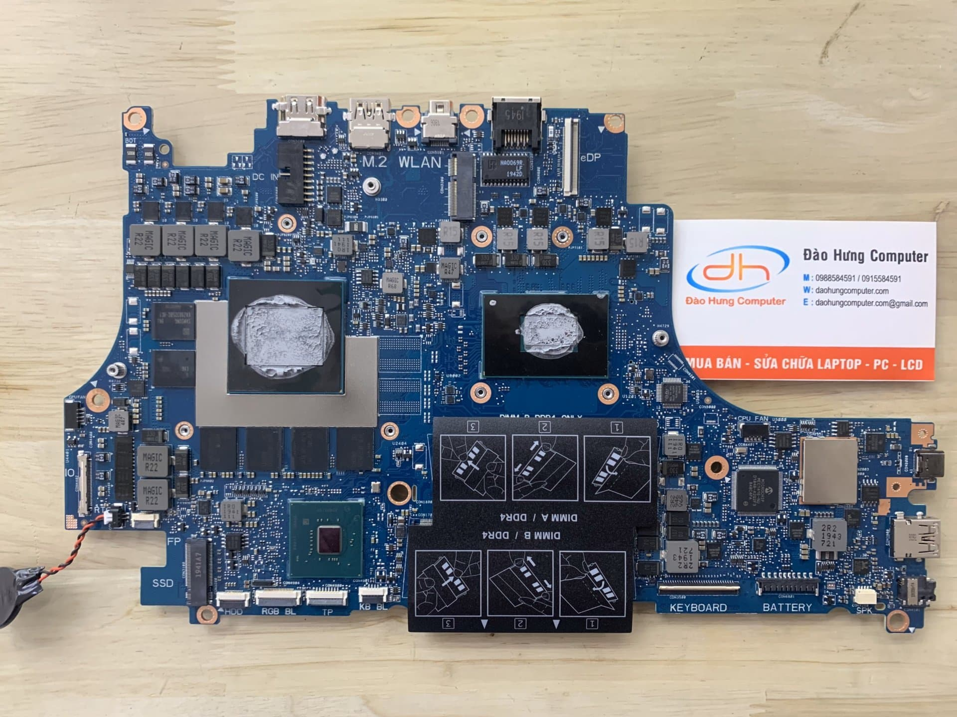 mainboard-dell-g7-7590-core-i5-9500h