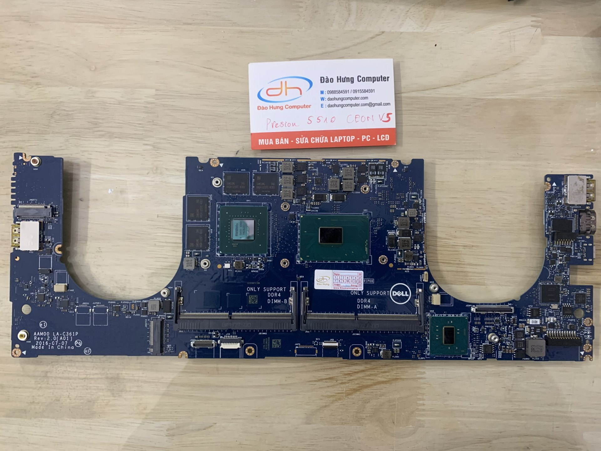 mainboard-dell-precision-5510-chip-xeon-e3-1505-v5