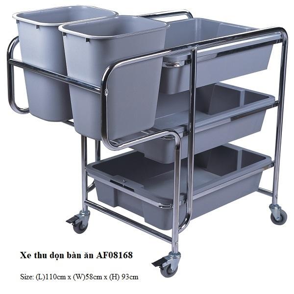 Xe thu gom bát đĩa nhà hàng AF08168