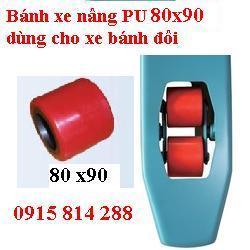 Bánh xe nâng tay 80x90mm Pu - Nilon