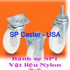 Bánh xe đẩy SP1 vật liệu Nylon, bánh xe đẩy