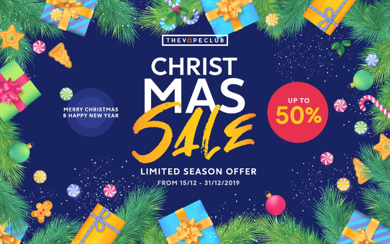 Christmas sale - Limited season offer The Vape Club