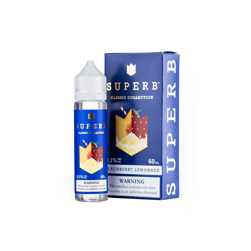 Peachberry Lemonade by SuperB (60 ml) (Nước chanh đào dâu)