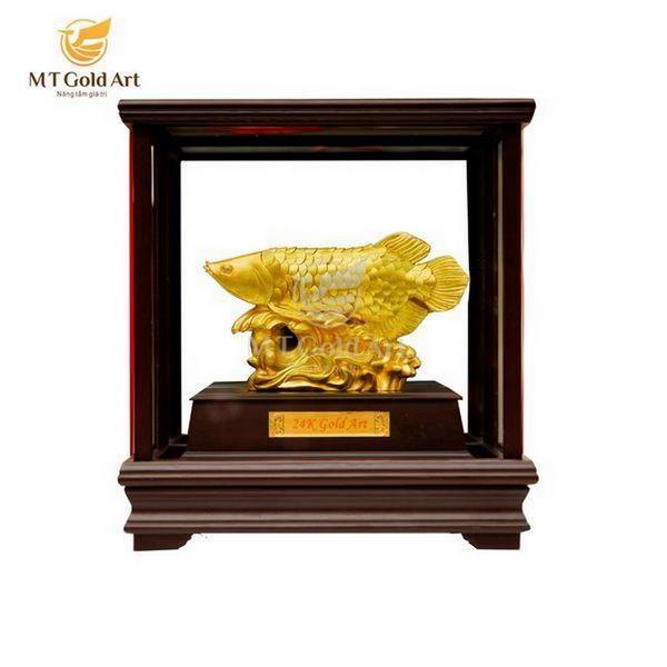 Biểu trưng cá rồng dát vàng- quà tặng doanh nghiệp cao cấp 5