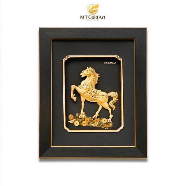 Tranh ngựa dát vàng- quà tặng doanh nghiệp cao cấp 8