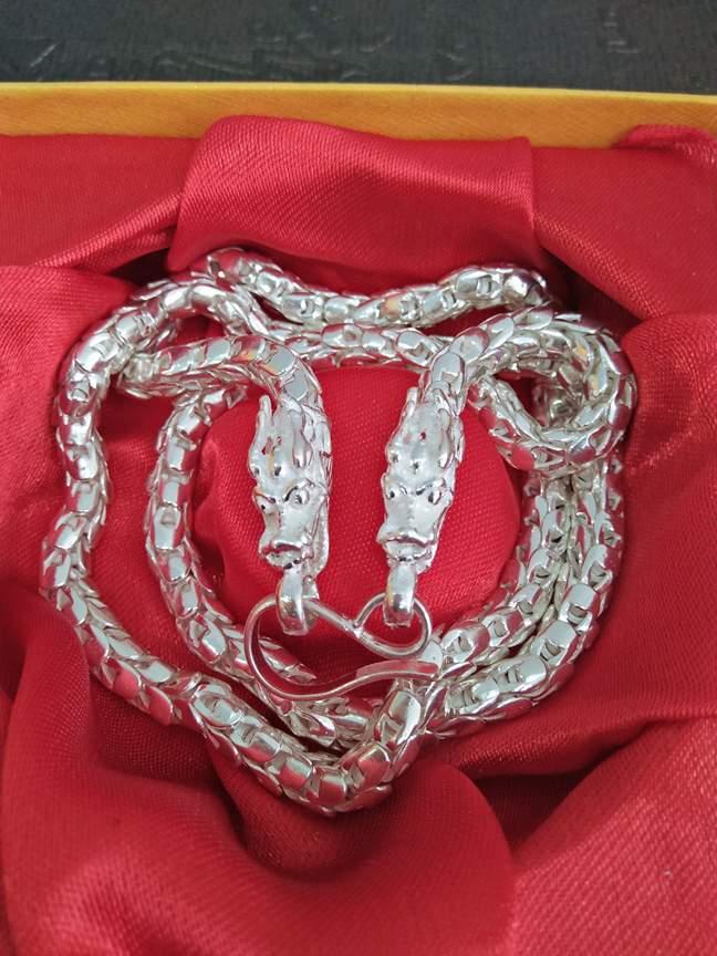 dây chuyền bạc nam vẩy rồng