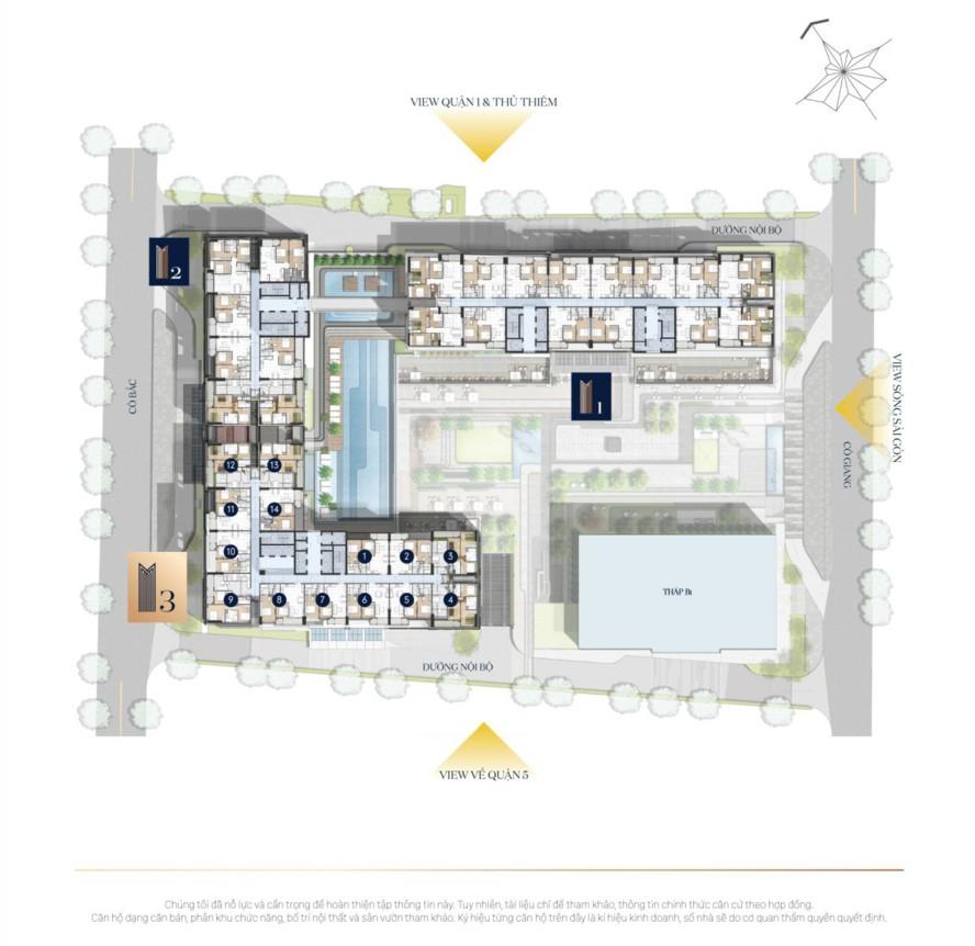 Mặt bằng tổng thể căn hộ The Grand Manhattan