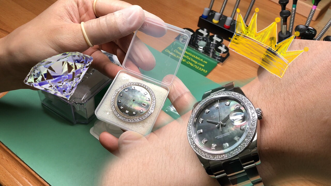 Combo phụ kiện authentic cho máy 3135 rolex