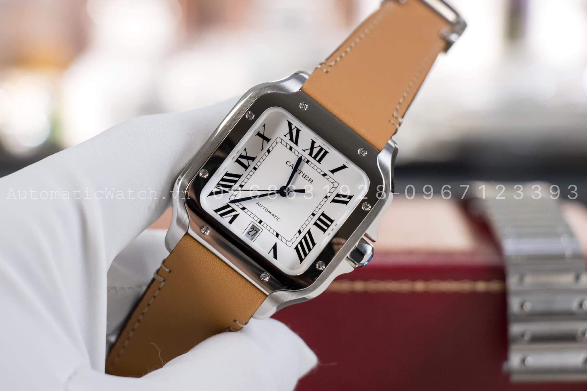 Đồng Hồ Cartier Replica Santos De Large Automatic 39,8mm