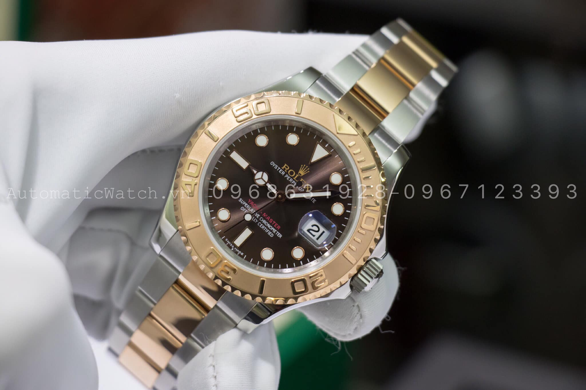 Đồng hồ ROLEX Yacht-Master Chocolate Dial Steel and 18K Everose Gold Oyster 116621 replica