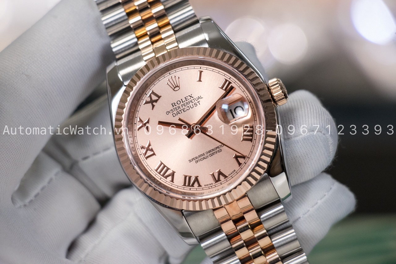 Đồng hồ Rolex Oyster Perpetual Datejust everose gold 116231 Bản Replica
