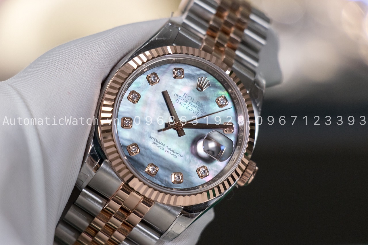 Đồng hồ Rolex Datejust Automatic Mother of Pearl 36mm 116231 Bản Replica 2020