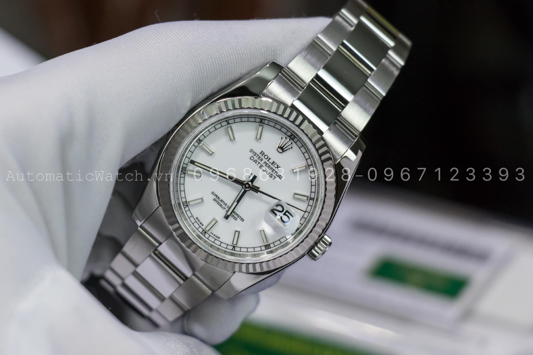 Đồng Hồ Rolex 116234 Replica  Oyster Perpetual 36 mm White