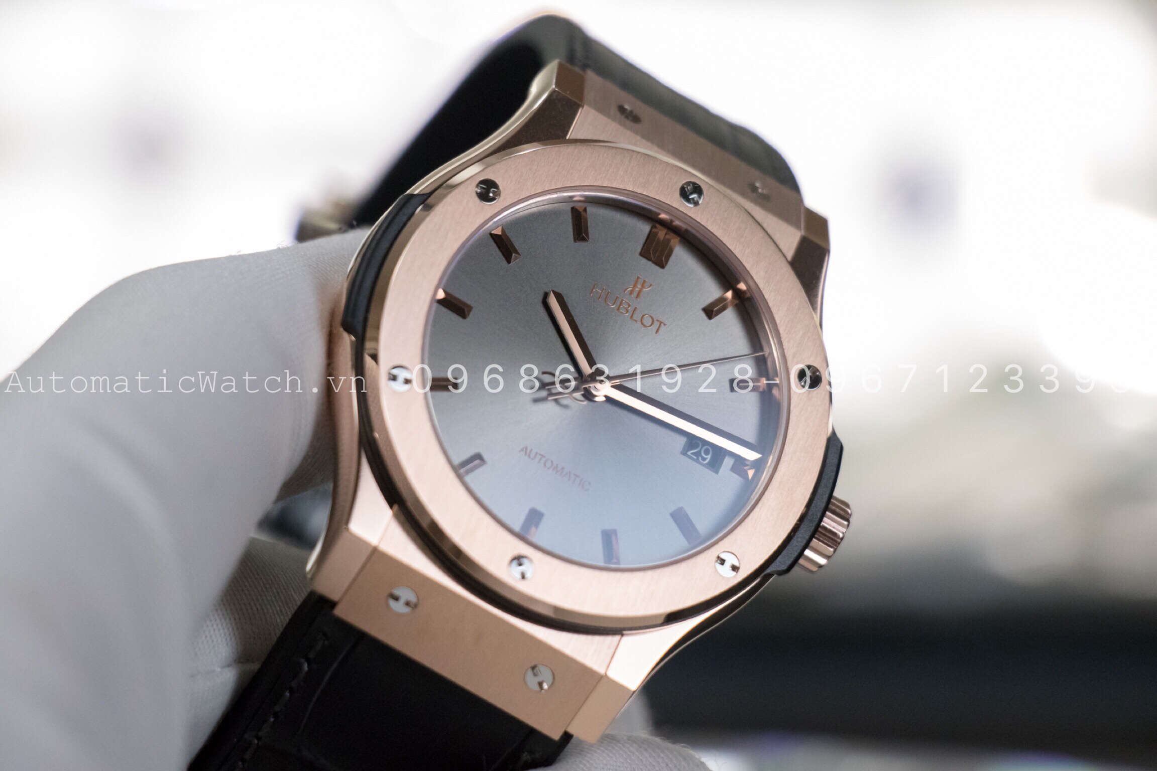Đồng Hồ Hublot Classic Fusion Rose Gold Gray Dial 42mm