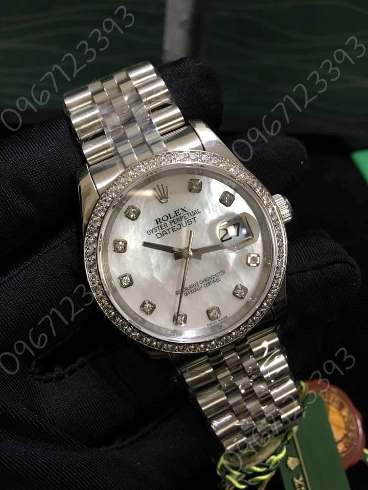 Đồng hồ ROLEX Datejust size 36 Mother of Pearl Diamond Ladies 116244 Replica