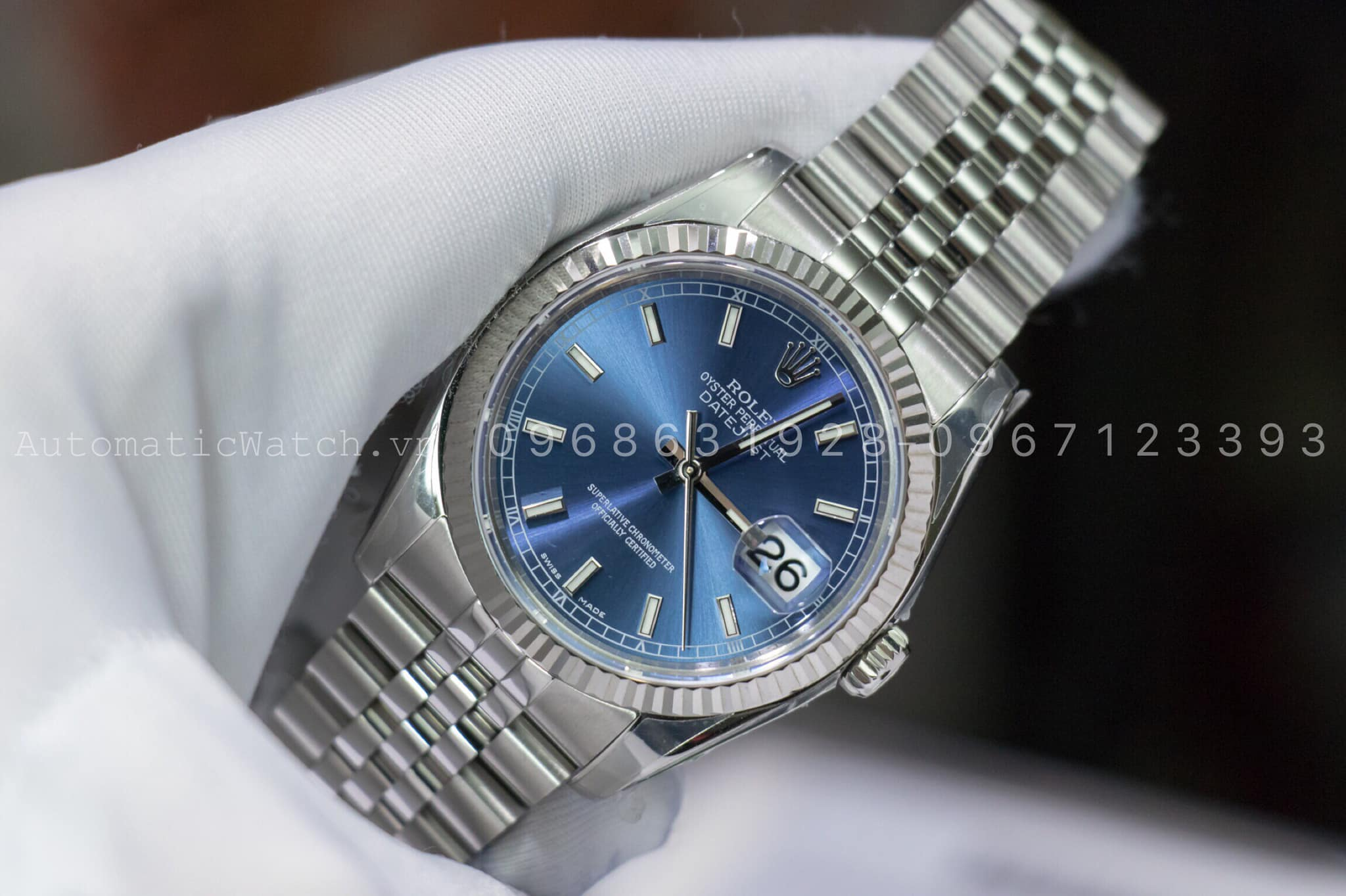 Đồng Hồ Rolex  116234  Replica Oyster Perpetual 36 mm Blue