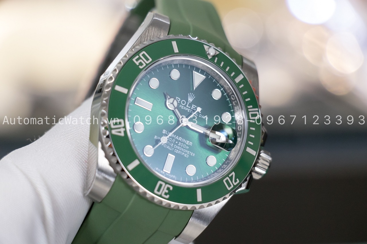 Đồng Hồ Rolex Hulk Submariner Date 116610LV Dây cao su Rubber-B