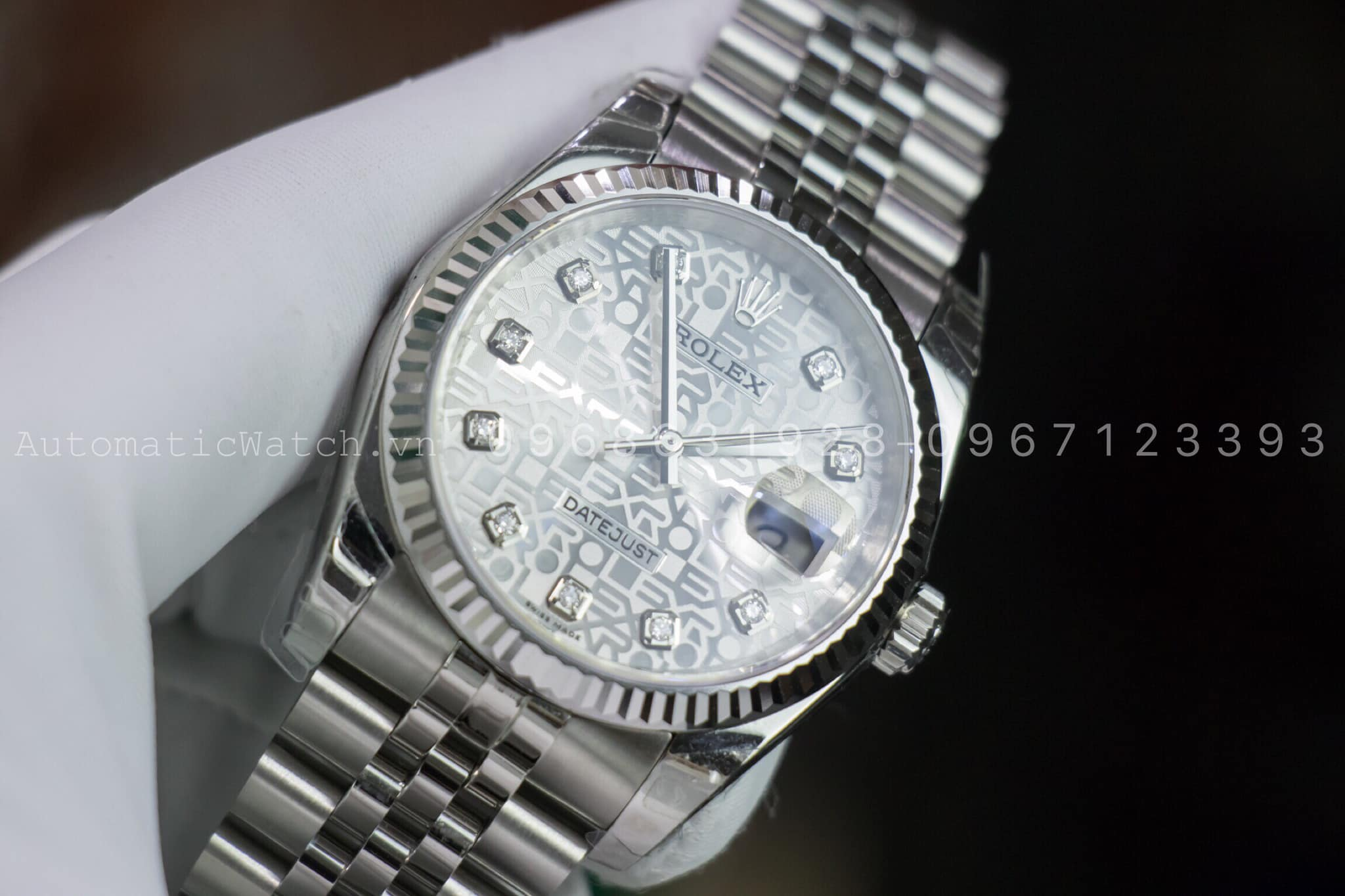Đồng Hồ Rolex 116234  Replica Oyster Perpetual 36 mm White Dial 3D