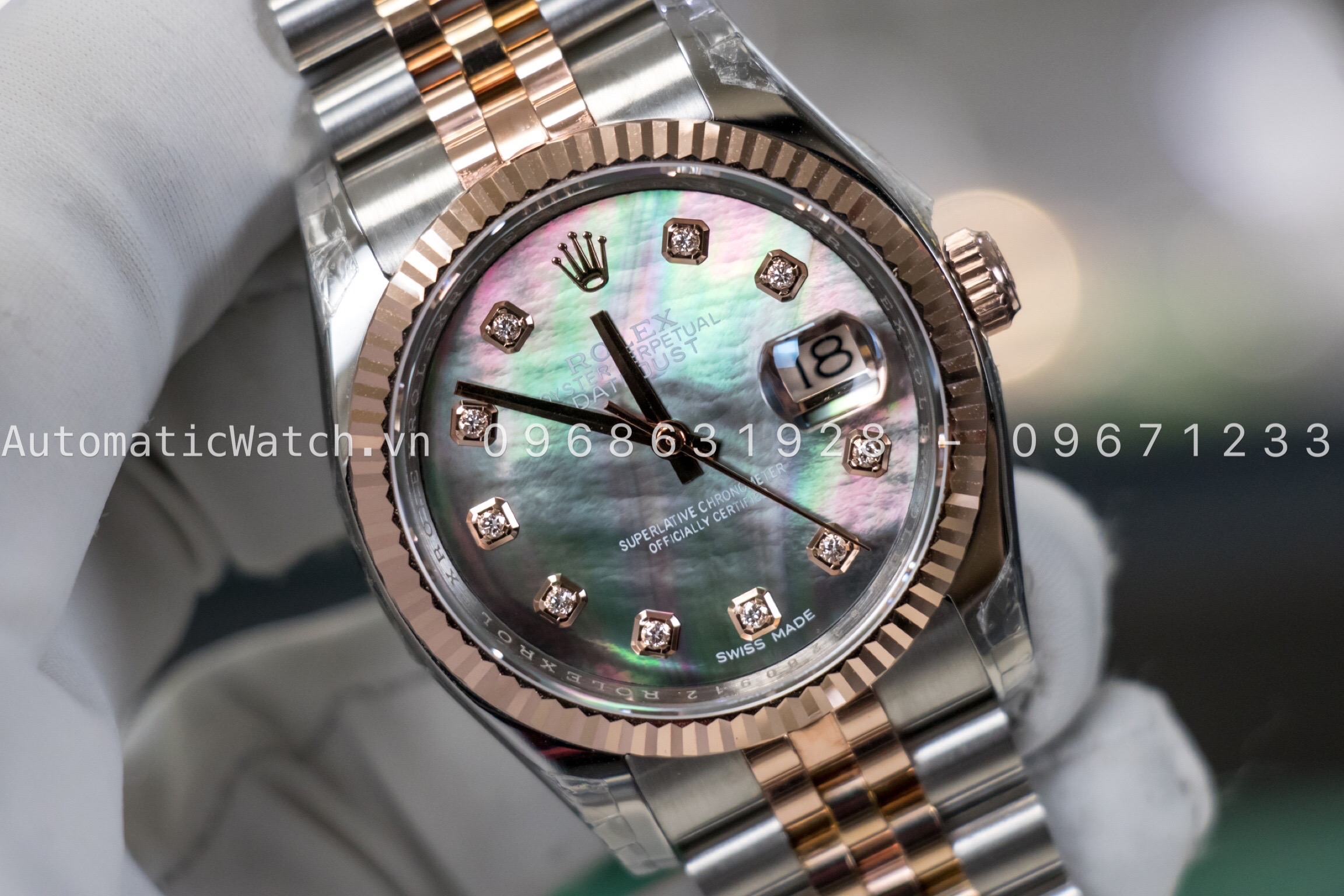 Đồng hồ Rolex Datejust Automatic Mother of Pearl 36mm 116231 Bản Replica 2019