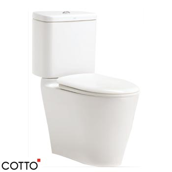 Bồn cầu 02 khối COTTO C17027-Space Solution