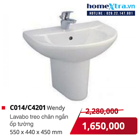 Chậu rửa mặt treo tường COTTO C014/C4201