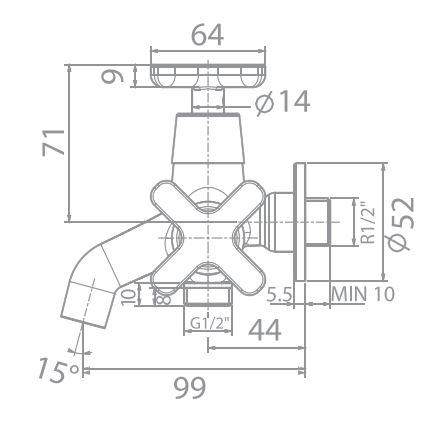 Vòi sen lạnh American Standard WF-T703