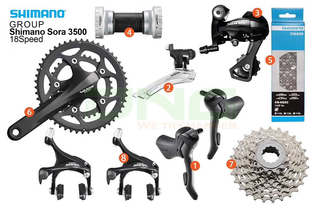 Bộ Group Shimano Sora 3500 18S