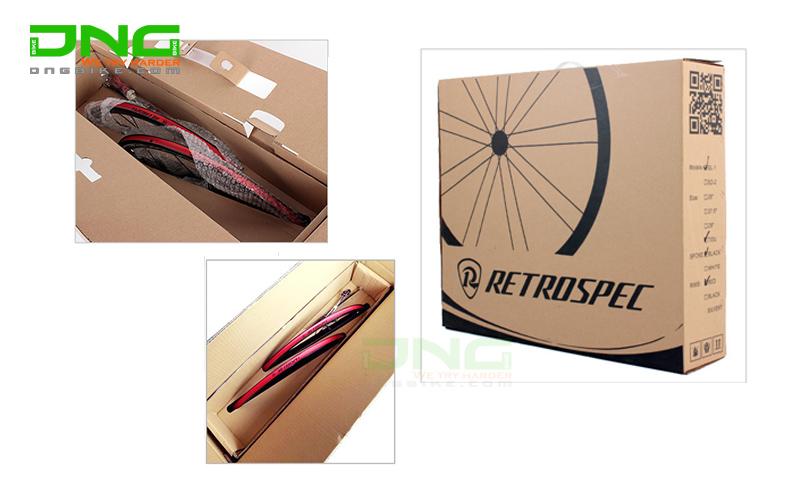 Vành bộ xe đạp đua Carbon Retrospec RACING 50mm phanh đĩa