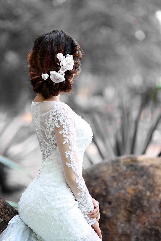 Gợi ý kiểu tóc cưới theo từng dáng khuôn mặt cô dâu