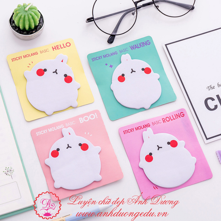 Giấy note sticky molang