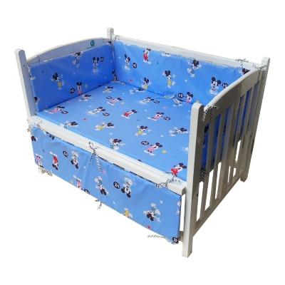 Combo cũi giường sơn trắng ( Chuột Mickey xanh )