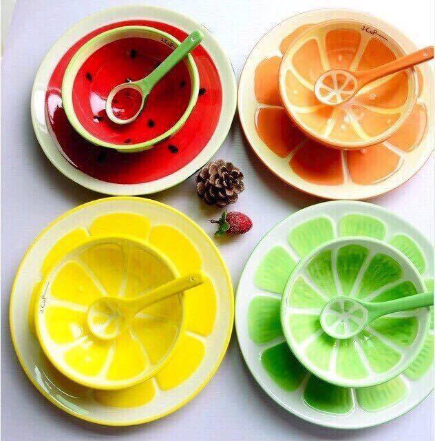 Bộ chén dĩa hoa quả