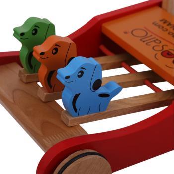 Xe đẩy tập đi bằng gỗ Veesano cún con