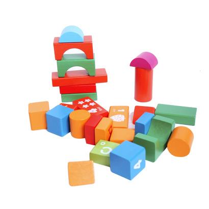 Bộ đồ chơi xếp hình khối gỗ 50 chi tiết