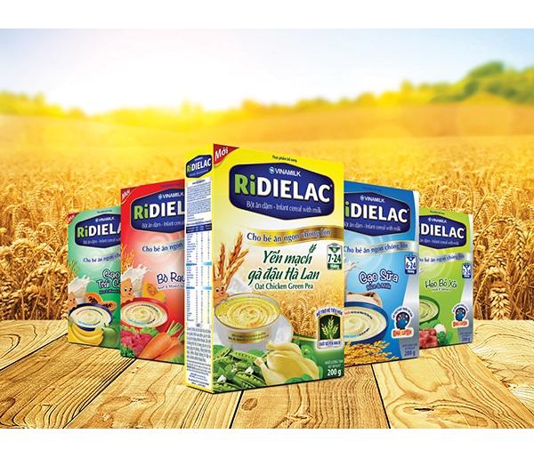 Bột ăn dặm Ridielac Yến mạch gà đậu Hà Lan 7-24M - 200g