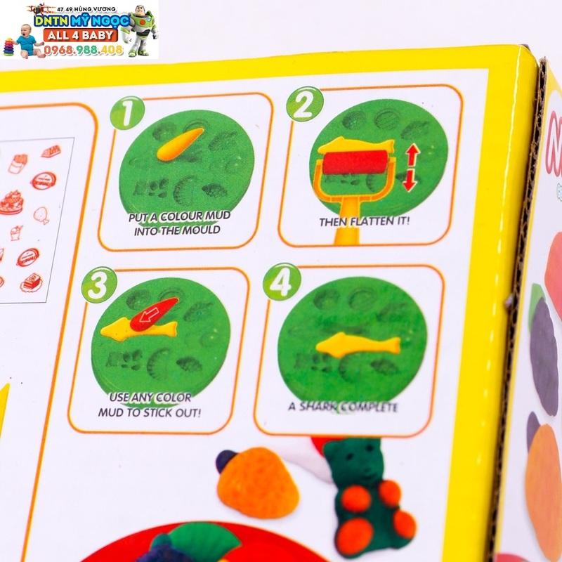 Bộ đồ chơi đất nặn hình trái cây, bánh kẹo Mini Candy