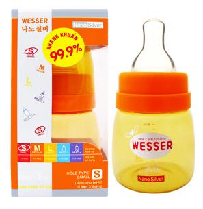 Bình sữa Wesser Silver Nano 60ml - Cổ nhỏ