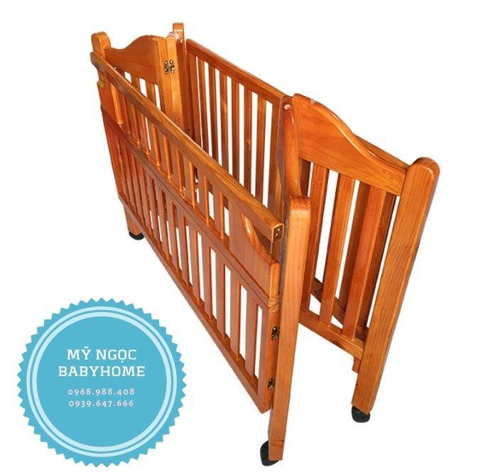 Cũi gỗ xếp cao cấp Autoru AUWBC01