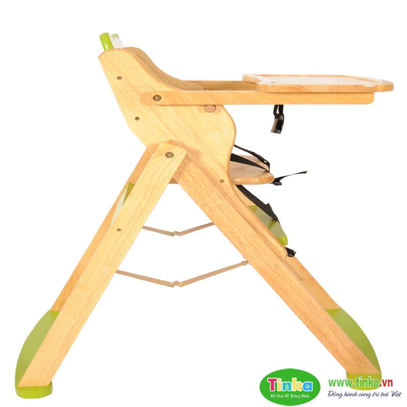 Ghế ăn dặm bằng gỗ Tinka