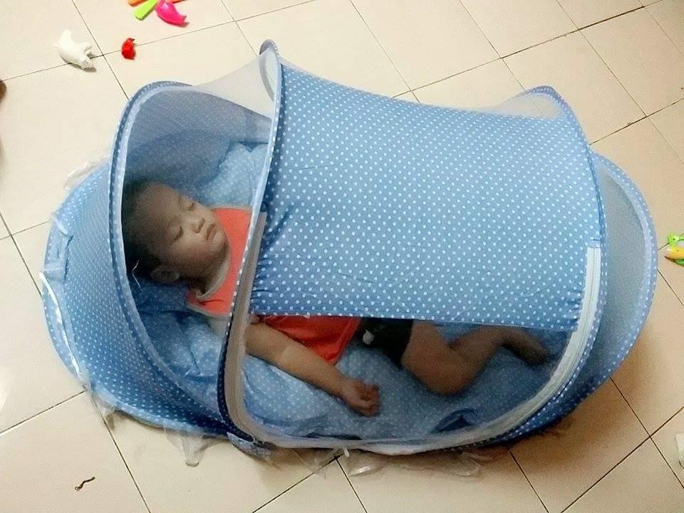 Mùng (màn) chống muỗi cho bé (có nệm, gối)