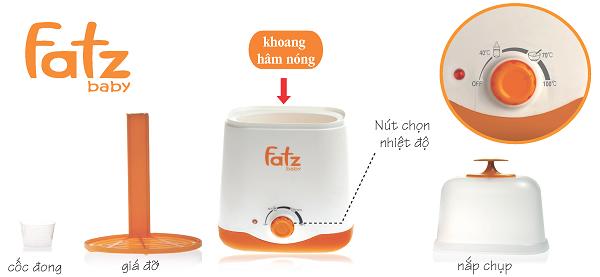 Máy hâm sữa tiệt trùng đa  năng Fatzbaby FB3011SL