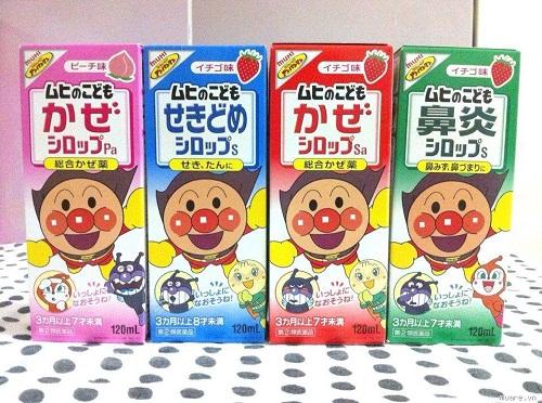Siro ho Muhi màu hồng trị ho, cảm, sốt - Nhật Bản