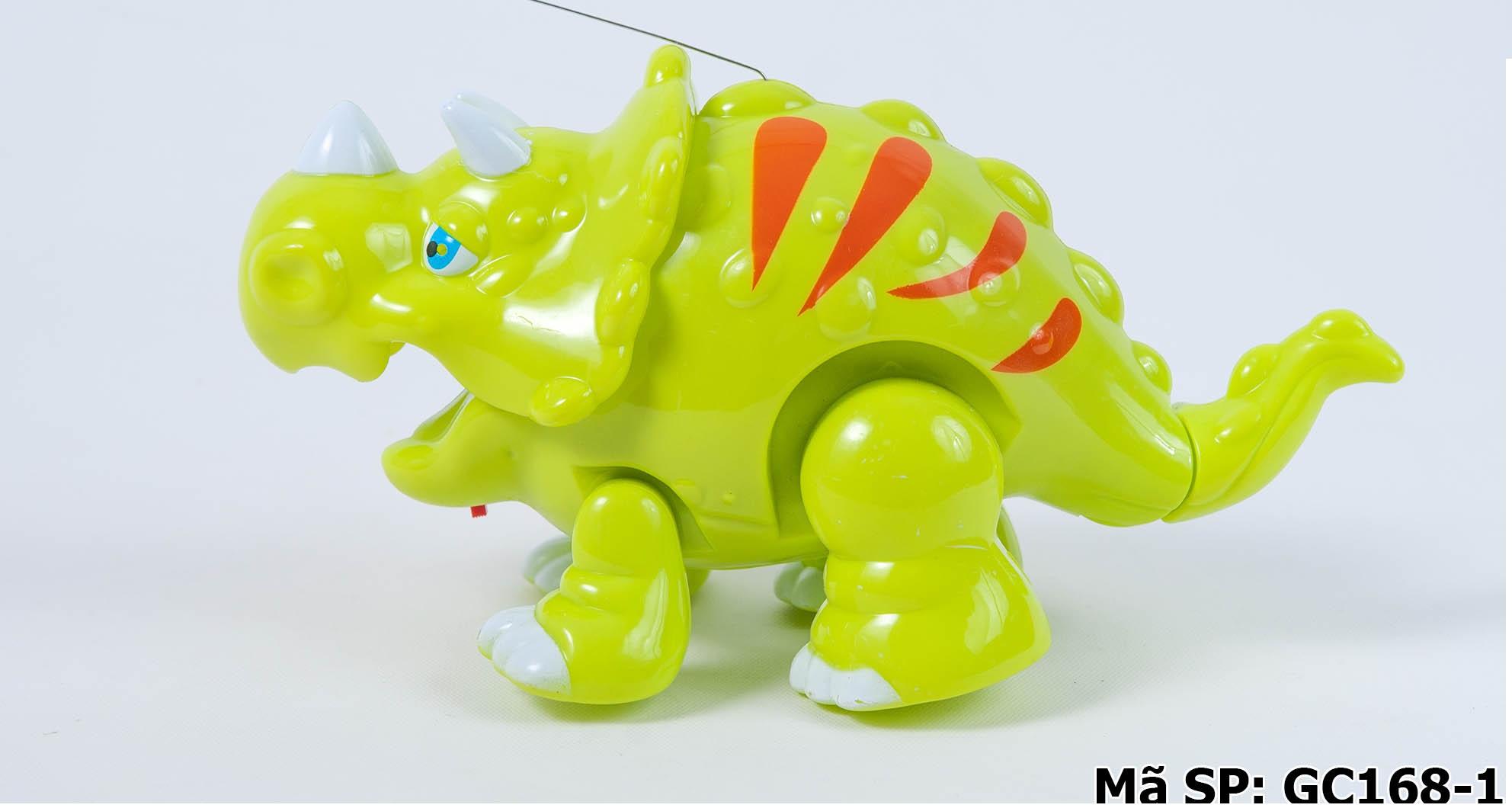 Đồ chơi khủng long xanh 3 sừng ăn cỏ GC168