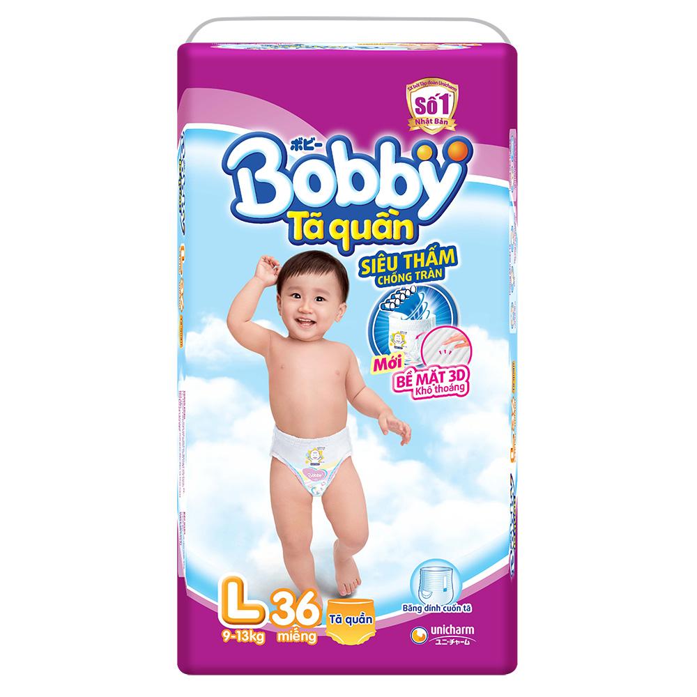 Tã quần Bobby L36 dành cho bé 9 đến 13 kg