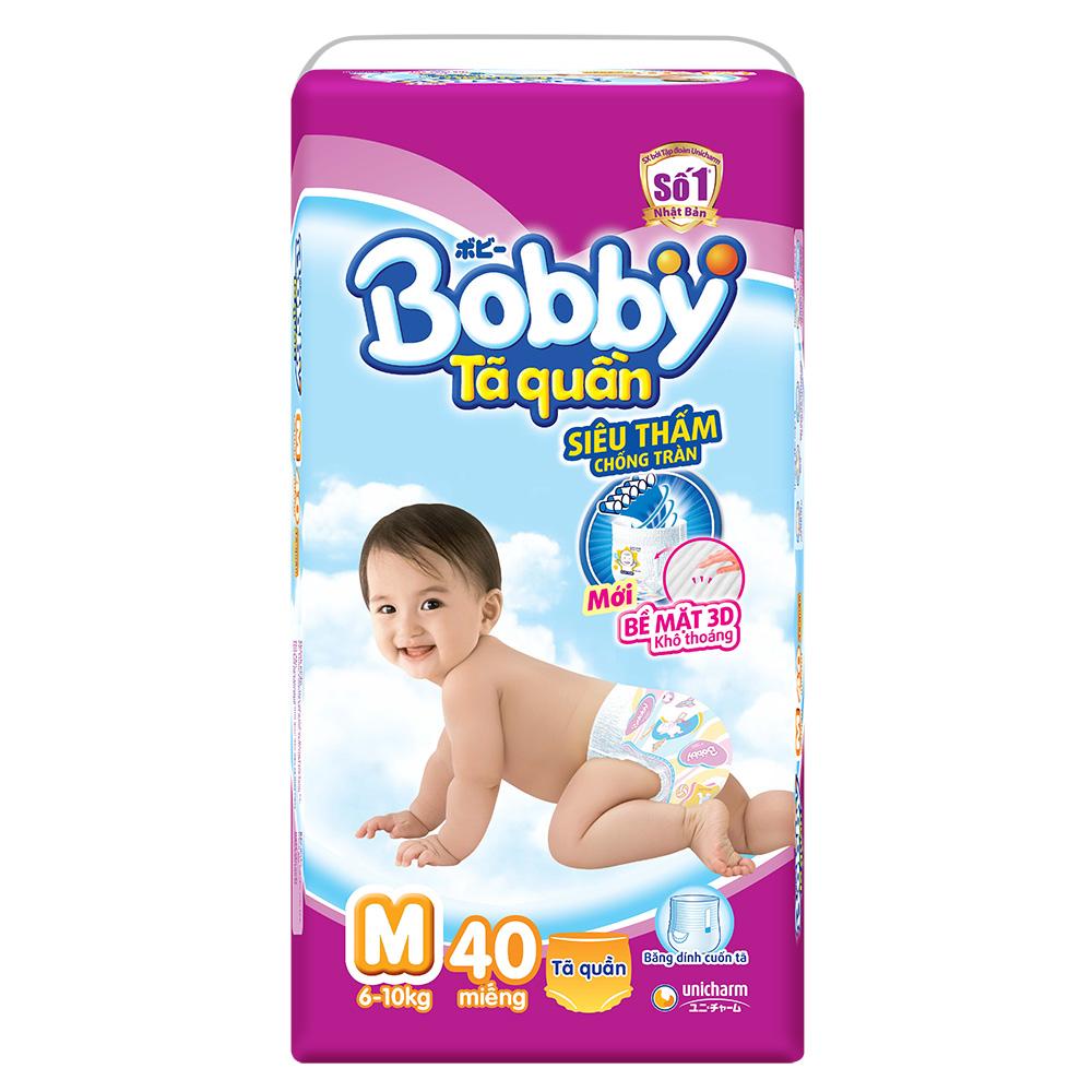Tã quần Bobby M40 dành cho bé 6 đến 10 kg